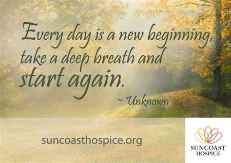 start every day with new hope pin by suncoast hospice on saturday inspiration pinterest