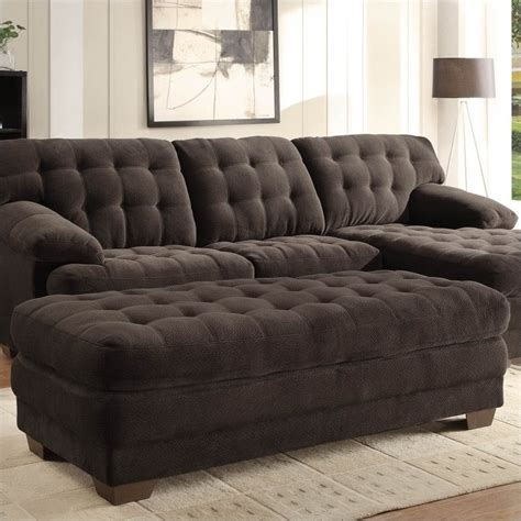Oversized Tufted Ottoman Trent Home Oversized Tufted Cocktail Ottoman In