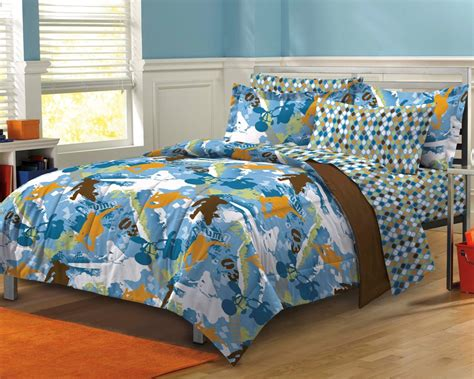 Boy Comforter Sets by New Sports Blue Boys Bedding Comforter Sheet