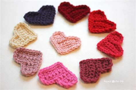 crochet heart pattern video easy crochet heart pattern repeat crafter me