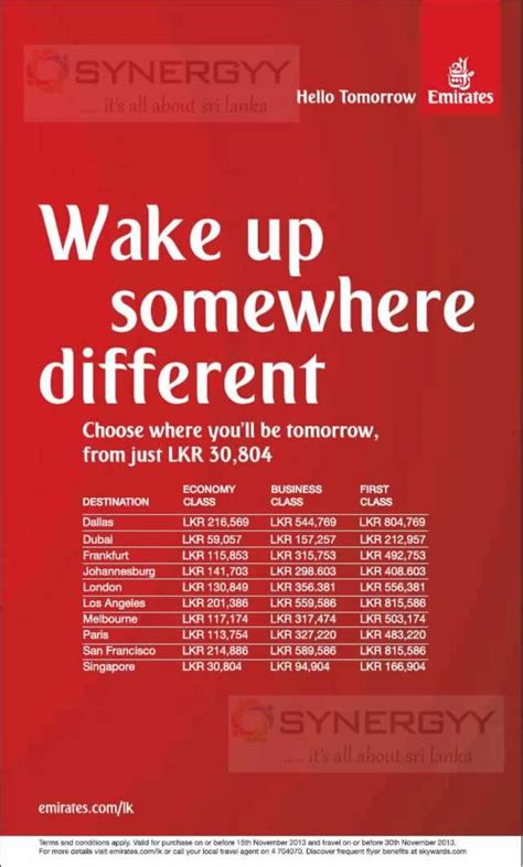 emirates promotion emirates special promotion till 15th nov 2013 171 synergyy