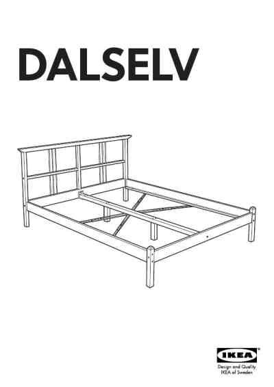 Ikea Bed Frame Directions Ikea Dalselv Bed Frame Furniture User Guide For Free 3db2 Manual Guru