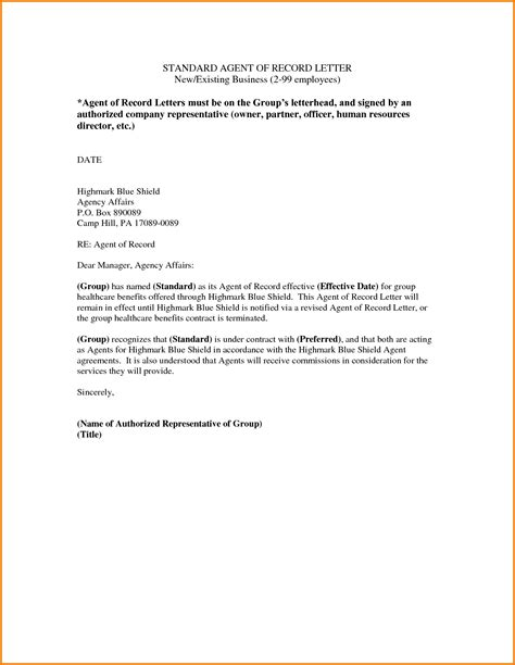 Authorization Letter Representative Authorized Representative Letter Authorization Letter Pdf