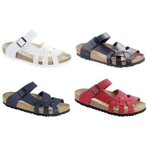 birkenstock pisa sandals birkenstock pisa birko flor or leather sandals white