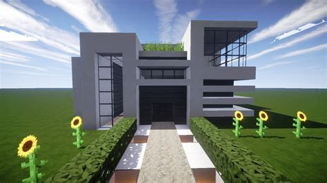 Wohnzimmer Schwarz Grau 2866 by Minecraft Modernes Haus Wei 223 Grau Bauen Tutorial