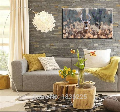 handmade home decor items deer oil painting chinese goods catalog chinaprices net