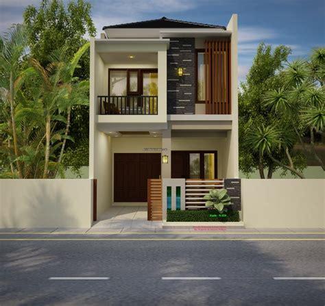 denah rumah minimalis lebar    meter  lantai jasa desain rumah