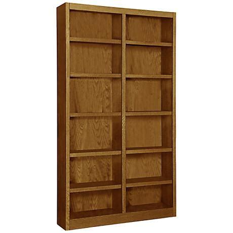 12 Wide Bookcase Grundy Oak Wide 12 Shelf Bookcase 7n894