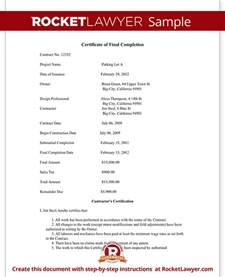 certificate template for project completion certificate of completion form for construction