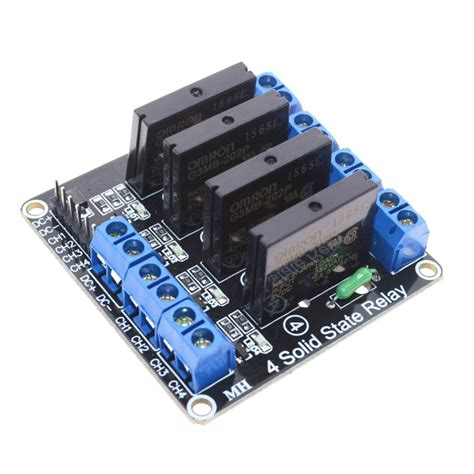 Solid State Relay Ssr Module 4 Channel aliexpress buy free shipping 5v 4 channel omron ssr high level solid state relay module