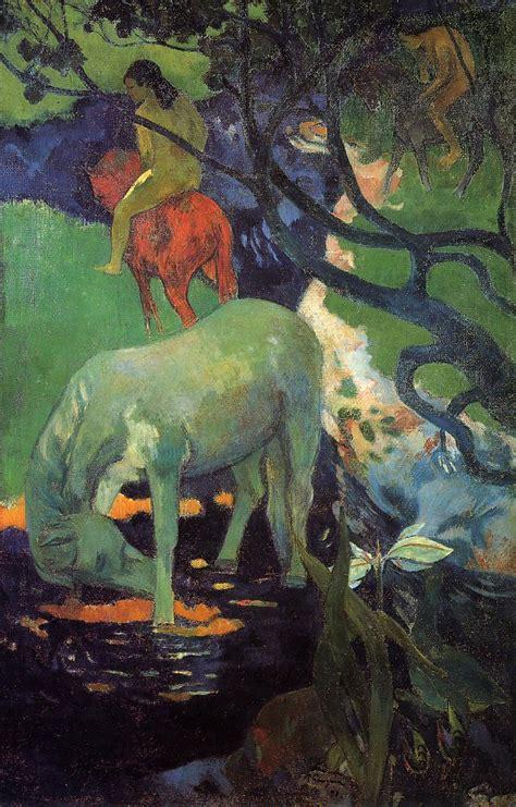 paul gauguin cuadros paul gauguin el caballo blanco 1898 243 leo el