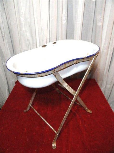 antique porcelain bathtub vintage french baby bath storage bowl stand display