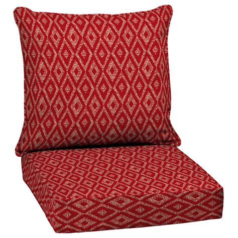 Garden Treasures Patio Furniture Replacement Cushions Shop Garden Treasures Geometric Seat Patio Chair Cushion For Seat Chair At Lowes