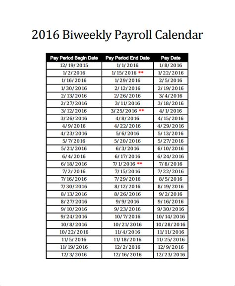 schedule of salaries template sle payroll calendar template 9 free documents