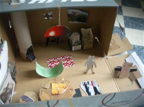 wohnung im schuhkarton basteln puppenhaus selber basteln aus einem schuhkarton