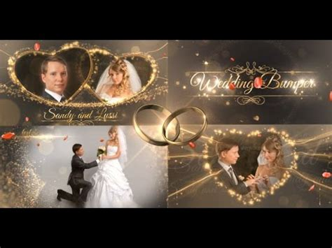 wedding templates after effects download after effects template wedding package youtube