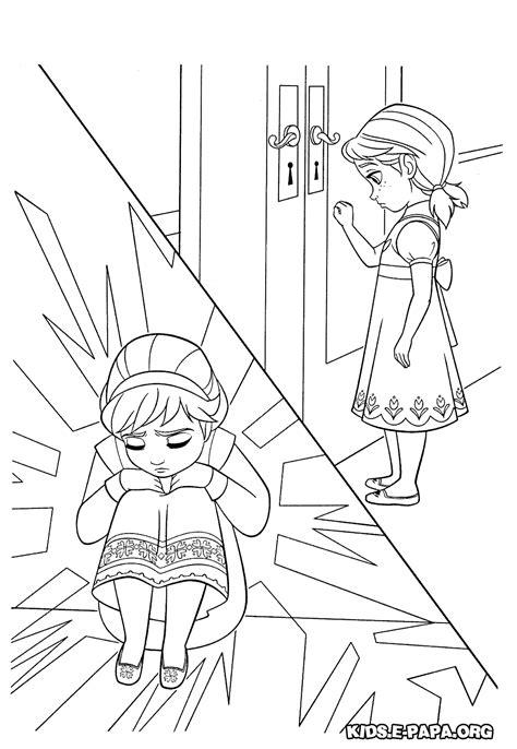 Målarbilder för barn Elsa och Anna