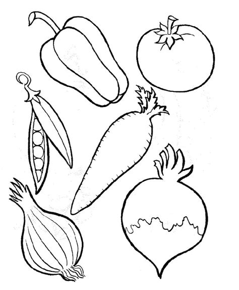 printable coloring sheets vegetables pictures of vegetables to color az coloring pages