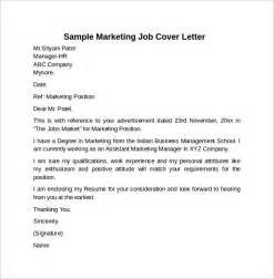 cover letter marketing position cover letter exle for 10 free documents
