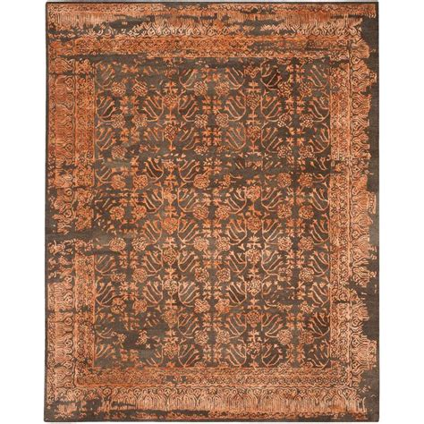 light brown area rug safavieh sapphire light brown rust 8 ft x 10 ft area rug sap112a 8 the home depot