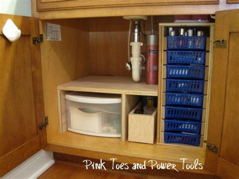 diy under cabinet storage home sweet home on a budget bathroom organization diy