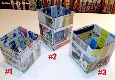 How To Make Paper Trash Can - how to make an origami trash can out of newspaper