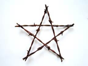 Large rustic barbed wire star rustic decor by thelonelyheart