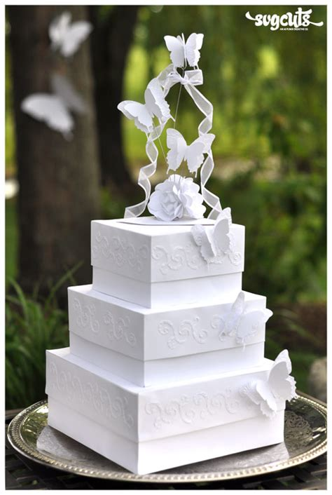 Wedding Card And Cake Box by It S A Day For A White Wedding Cake Fleurette F