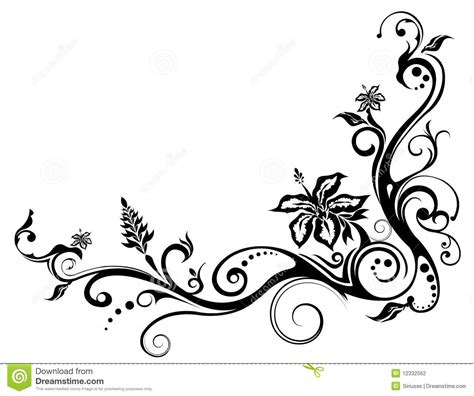 floral pattern design drawing viewing gallery for floral vine pattern tattoo