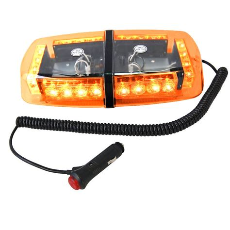 Hqrp 24 Led Strobe Amber Emergency Vehicle Mini Strobe Led Vehicle Light Bar