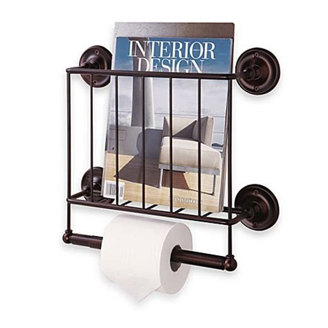 wall magazine holder bathroom oil rubbed wall mount magazine rack in bronze bed bath