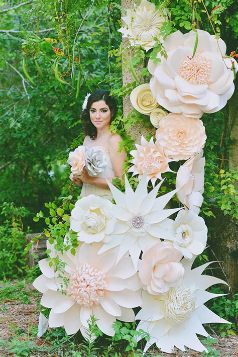 Flower Ideas With Paper - paper flower wedding inspiration 100 layer cake