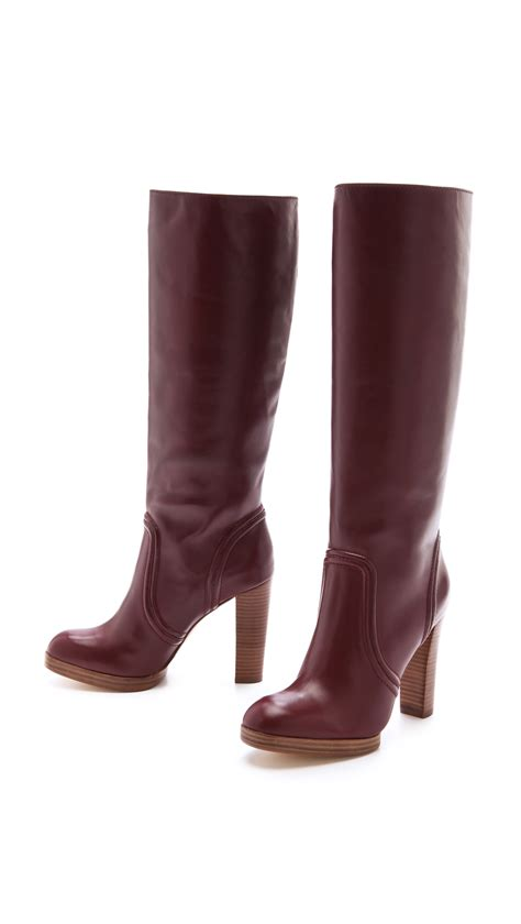 michael kors high heel boots lyst kors by michael kors aila high heel boots in