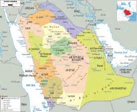 detailed political map of saudi arabia ezilon maps