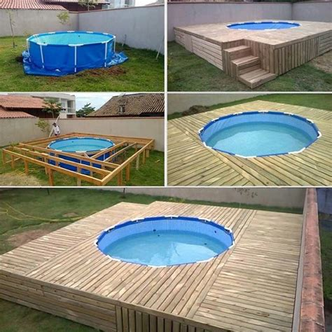 pallet pool deck  backyard makeover pallet