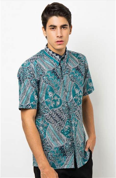 gambar baju batik pria kerja kantoran model baju batik