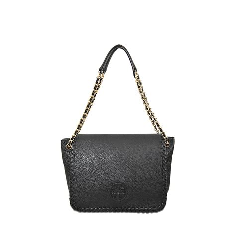 burch marion small flap shoulder bag in black lyst