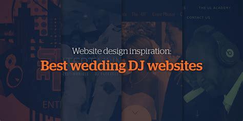 Best Wedding Inspiration Websites by Website Design Inspiration Best Wedding Dj Websites