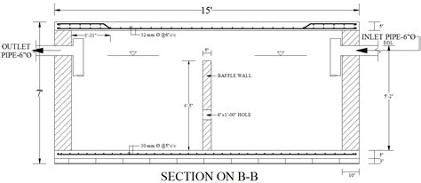 septic tank section design of septic tank and water reservoir free detail