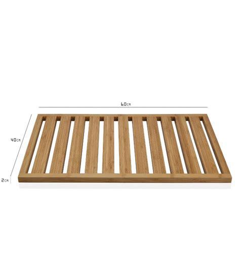 tapis de bain bambou tapis de bain bambou caillebotis 60x40x2 wadiga