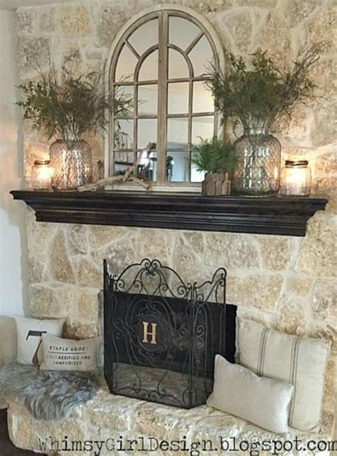decorating mirror fireplace house