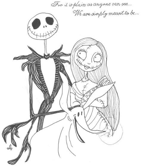 jack skellington and sally pages coloring pages