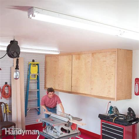 shop lights for garage how to achieve better garage lighting the family handyman