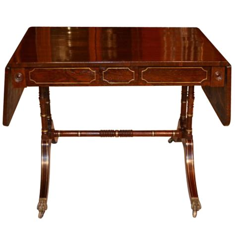 C Sofa Table by Antique Regency Rosewood Brass Inlaid Sofa Table C 1820