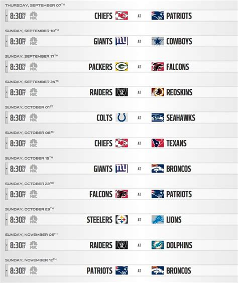 printable nfl schedule regular season 2017 nfl schedule 2017 regular season