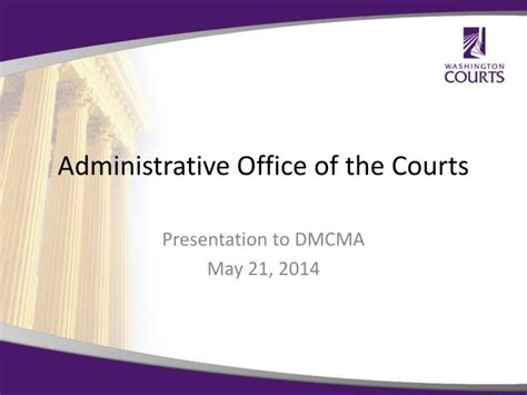 Administrative Office Of Us Courts by Ppt Administrative Office Of The Courts Powerpoint