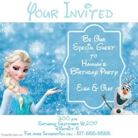 frozen themed birthday messages birthday poster templates postermywall