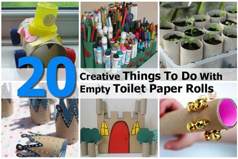 Things To Do With Craft Paper - 20 creative things to do with empty toilet paper rolls
