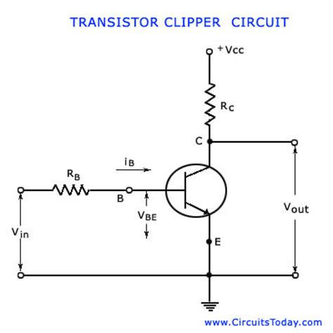 transistor lifier basics basic transistor clipping circuit working electronic circuit collection