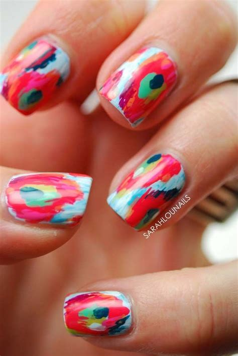 Easy Abstract Nail Designs